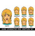 game character girl emotions set vector image