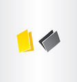 yellow and black folders icons design vector image