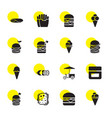 16 snack icons vector image vector image