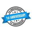 1st anniversary label anniversary blue band