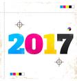 2017 cmyk vector image vector image