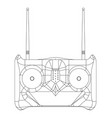 3d model of radio remote control on a white vector image vector image