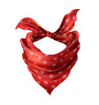 3d realistic red neck scarf neckerchief vector image
