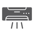 air conditioner glyph icon climate and cooling vector image