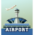 airport building poster vector image vector image
