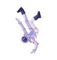 astronaut dancing break dance cosmonaut vector image vector image