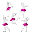 Ballerinas little girls dancing children vector image vector image