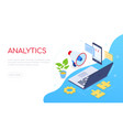 business analytics - modern colorful isometric web vector image