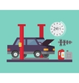 Car service Auto diagnostics and transport repair vector image vector image