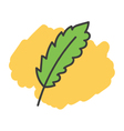 Cartoon doodle leaf vector image vector image
