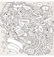 Cartoon hand-drawn Doodle on the subject of vector image vector image