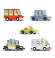 Cartoon Transport Car Vehicle Icon Design Stylish vector image