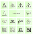 caution icons vector image vector image