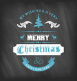 christmas greetings card with dark background vector image vector image