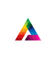 color letter a logo icon design vector image vector image