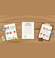 company acquisition concept with paperwork vector image vector image