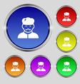 Cook icon sign Round symbol on bright colourful vector image vector image