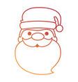 cute santa claus head kawaii character vector image vector image