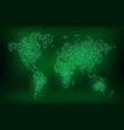 digital binary code world map future technology vector image