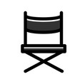 director chair linecolor vector image vector image