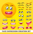 face expression creation set vector image vector image