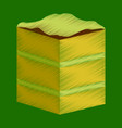 flat shading style icon piece of cake vector image vector image