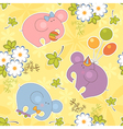 floral and animal seamless baby pattern vector image vector image