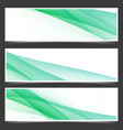 fresh abstract spring header flyer set vector image vector image