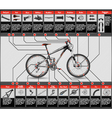 Full suspension MTB vector image vector image