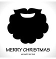 fun symbol santa claus face icon greeting card vector image