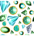 gems and diamonds precious stones seamless vector image vector image