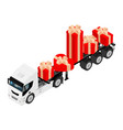 gift delivery concept delivery truck with gift vector image vector image