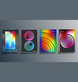 gradient and minimal line design for background vector image vector image