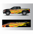graphic abstract grunge stripe designs for truck vector image
