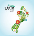 happy earth day cutout card for environment care vector image vector image