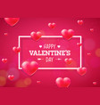happy valentines day with heart on vector image vector image