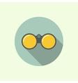 icon binoculars vector image