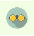 icon of binoculars vector image vector image