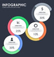 infographic infographic web banner template vector image