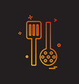 kitchen icon design vector image