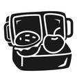 lunch box icon simple style vector image vector image