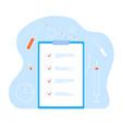 medical record health id card checklist vector image vector image