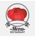 Menu restaurant ingredient vector image vector image