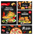 mexican cuisine street cafe fast food menu banner vector image vector image