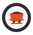 mining wagon isolated icon vector image