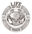 motorcycle engine logo vector image