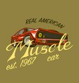 muscle car for t-shirt vintage transport classic vector image vector image