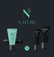 n organic logo cosmetic mock up tubes
