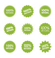 natural food logo icon set organic eco labels vector image