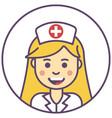 nurse girl avatar girl blonde smile avatar girl vector image